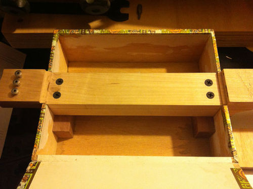 cigar box guitar neck construction 2