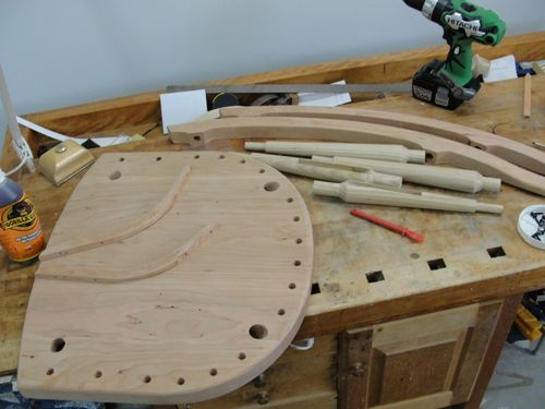 Building A Thos. Moser Design New Gloucester Rocking Chair #11: Assembling  The Lower Half Of The Rocking Chair   By DustyMark @ LumberJocks.com ...