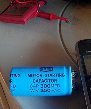 Replacing start capacitor on delta 50 763 dust collector for Motor start capacitor test