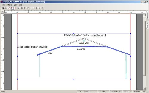 Calculating Attic Area Corresponding Gable Vent Size And
