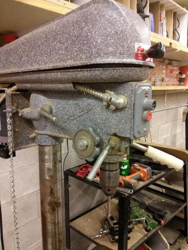 Drill Press Restoration 1960 Canadian Blower and Forge