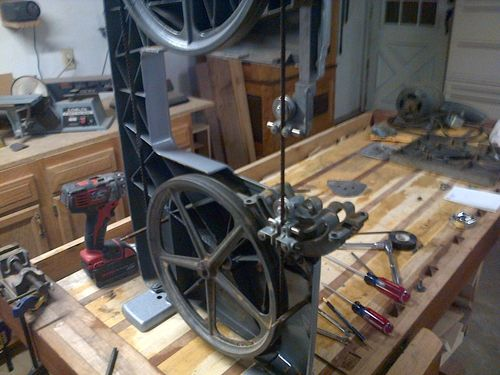 Old bandsaw upgraded pulley questions to fellow lumberjockers by this is my 1952 craftsman 12 band saw she has been soo unrealiable over the years and i was on the verge of tossing her out keyboard keysfo Choice Image