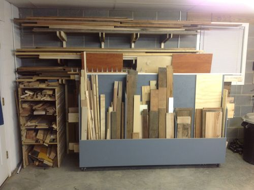 A lumber storage rack...finally! & A lumber storage rack...finally! - by justholler @ LumberJocks.com ...