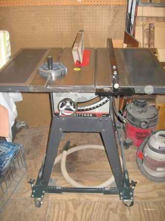 Craftsman 10 table saw 1976 model 113 never put together complete ps motor is one hp belt driv greentooth Gallery