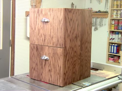 This Cabinet Is Made From Oak Plywood And Has 2 Drawers On Full Extension  Slides.. Here Is A Look At It And How I Built It