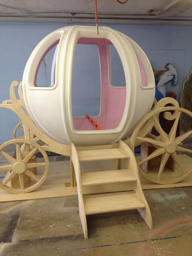 making of a cinderella carriage bed 6 first mock up of