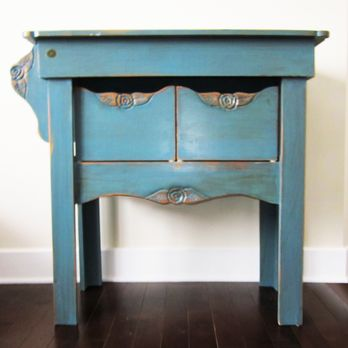 antique blue butcher block island by eugenie lumberjocks com