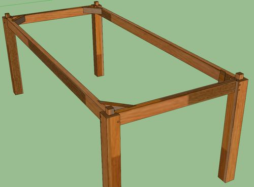 Dining table fastenerless design by mostlyharmless for Table joints