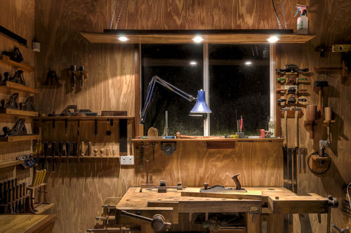 Just some Googled workshop photos below suggesting workshop LED lighting setups. & Workshop LED Lighting - by redSLED @ LumberJocks.com ~ woodworking ...