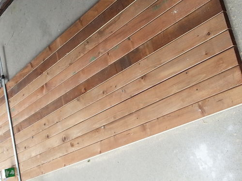 Help with my porch by mrsvwal for Brown treated deck boards