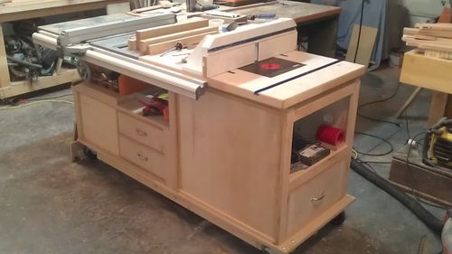 Making my own tablesaw bench by tazboy lumberjocks here is my mobile tsrouter table you can get the plans from the wood magazine website it was a fairly easy build and totally made woodworking a much keyboard keysfo Gallery