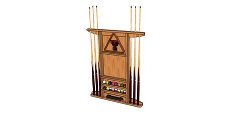 Texas tech pool cue rack 1 design by constructionboss for Cue rack plans