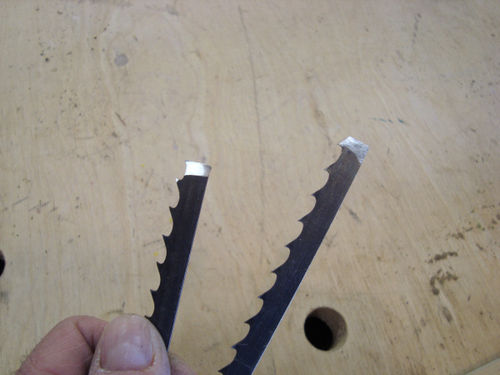 How to silver solder band saw blades by hydro lumberjocks to ensure alignment of the finished blade i use a jig that i welded up put of a piece of angle iron and a couple of steel strips keyboard keysfo Choice Image