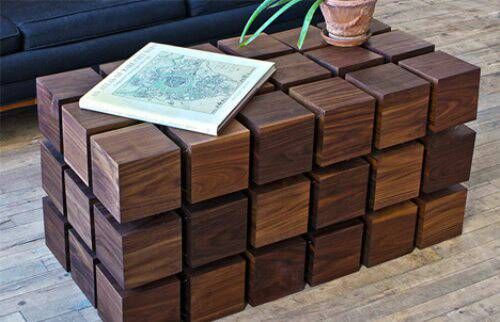 I Have Been Trying To Figure Out How To Make This Coffee Table. I Am Having  Trouble Figuring Out How The The Cubes Are Attached To Each Other Or Are  They ...