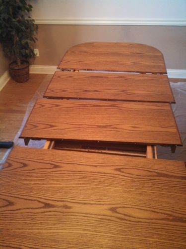 How To Repair Seal Dining Room Table Top By Nwadave