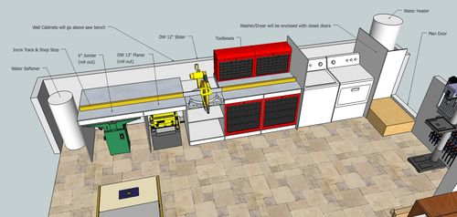 Building The Ultimate Garage Woodshop 4 Sketchup Plans