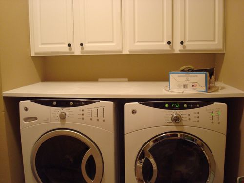 Counter or shelf over washer dryer by davidatx for Shelf above washer and dryer