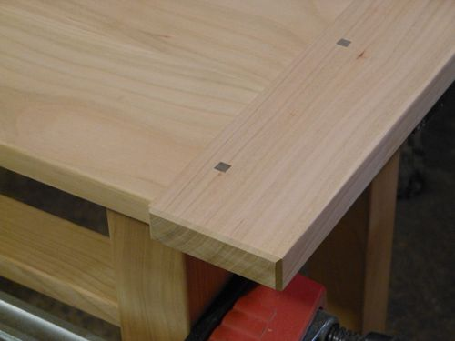 cherry refreshment table 1 breadboard ends and tusk tenons by