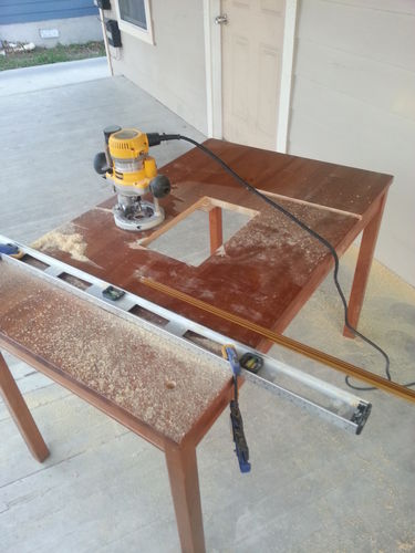 Apartment router table table saw 2 insert rails and fence by n0yerimg greentooth Image collections