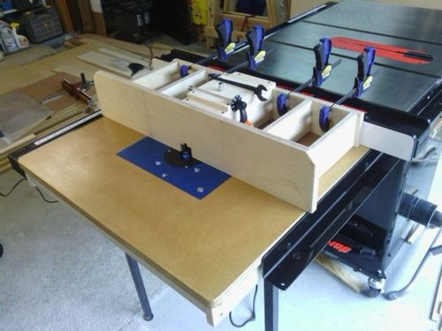 Workshop solution table saw router table extension by delain ive taken a bit more time to annotate this project since it took quite a lot of time to make happen and it also includes a product keen dust collector keyboard keysfo Choice Image