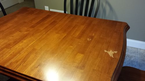 Nail polish remover on kitchen table - by ravensrock @ LumberJocks.com ~  woodworking community - Nail Polish Remover On Kitchen Table - By Ravensrock @ LumberJocks