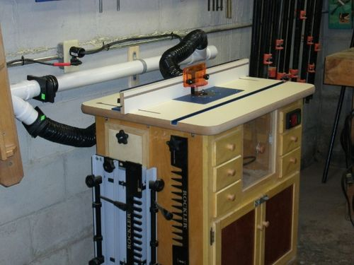 Install of ready made router table top as a table saw extension i have a rockler ready made table the dimensions are 1 18 x 24 x 32 other than the size other obstacles might be that all four corners are radiused greentooth Image collections