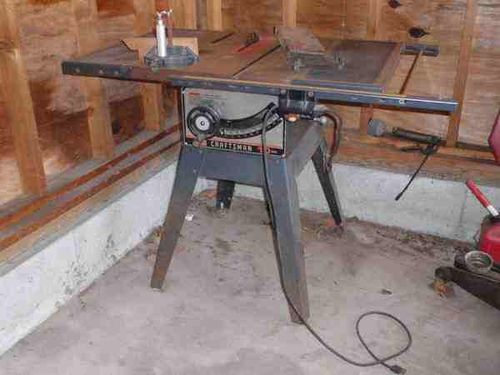 Craftsman table saw 113298240 restore by jlabos lumberjocks i took the belt off and ran the motor which started and sounded fine it had the miter fence and blade guard i offered the lady 60 and took it home greentooth