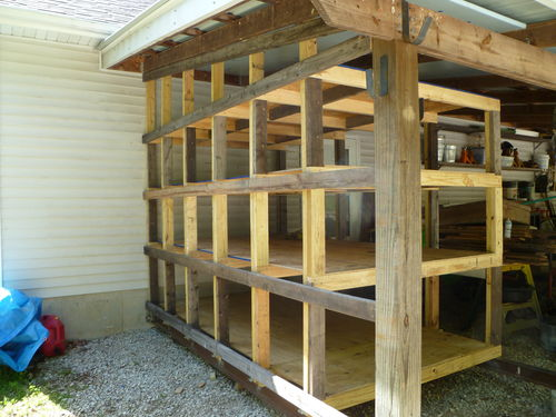 Lean To Lumber Storage By Weldoman Lumberjocks Com