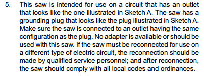 230v table saw plugcord question by coloneltravis lumberjocks the sawstop manual says this greentooth Choice Image