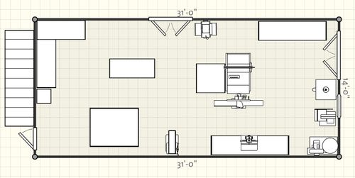 Small shop layout input and advice wanted by todd4390 for Small woodworking shop floor plans
