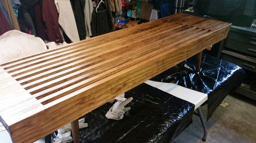 mid century idea design modern slat bench craftsmanbb