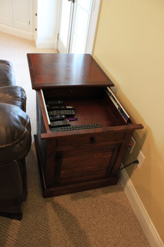 I Could Even Put A Blu Ray Player Or Gaming Console In It. I Have An Hdmi  Cable Run From The End Table To The Tv Through The Walls.