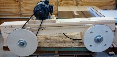 Homemade Band sawmill #1: Building the frame - by