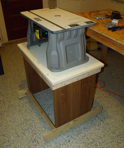 Woodworking on a half shoestring 15 down n dirty router for How to make a router table stand