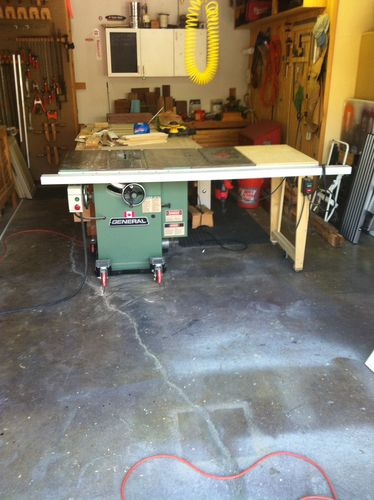 General model 350 table saw for sale by rhoots lumberjocks cast iron table 54 rip capacity cast iron router table extension tenon jig dado set moulding head with cutters many saw blades greentooth Images