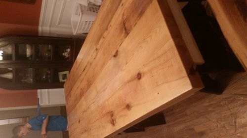 Reclaimed Hemlock Table Top Polyurethane Finishing Issue   Wrinkling   By  Dooma @ LumberJocks.com ~ Woodworking Community