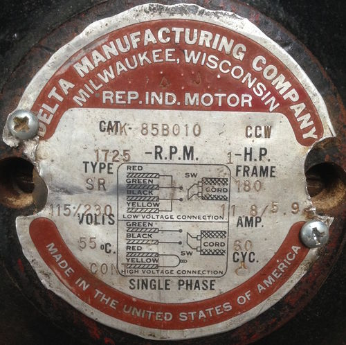 how do you rewire a 1952 delta unisaw rockwell milwaukee table saw here is a photo of the diagram on the motor