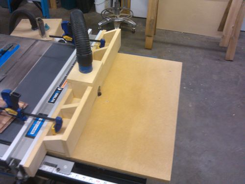 Table saw router extension delta 36 725 by ericlew lumberjocks i figure this way it is easily replaceable greentooth Image collections