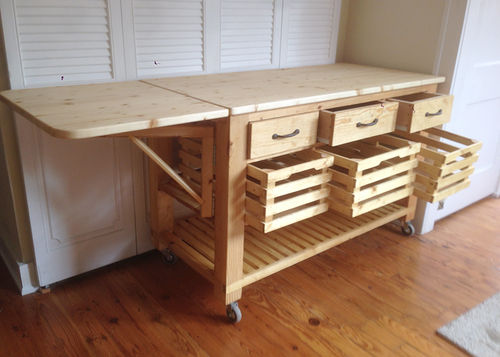 Rustic Mobile Kitchen Island by Garbanzolasvegas LumberJocks