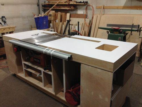 Genial Table Saw Cabinet #3: Finishing The Top. Week 3   By Heisinberg @  LumberJocks.com ~ Woodworking Community