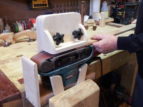 Thickness Sander Attachment For My Belt Sander By Kiefer