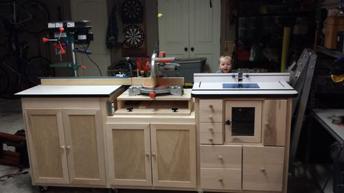 Miter saw router table combo by swarfrat for Router work table
