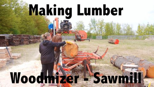 Making lumber with a Woodmizer sawmill - by Canadian