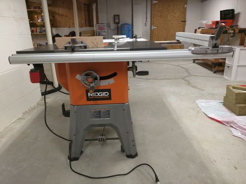 Ridgid 10 Cast Iron Table Saw For Sale On Craigslist By Aaron Lumberjocks Com Woodworking Community