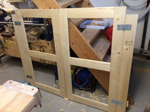 The next task was to nail on the moldings so I could screw the doors on and see the result. I just used a couple of nails to attach each of the ... & A OUTDOOR STORAGE SHED FOR MY BBQ GRILL #9: Hanging the Doors - by ...