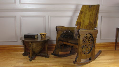 Charles Rohlfs Oak Rocking Chair Article Candian