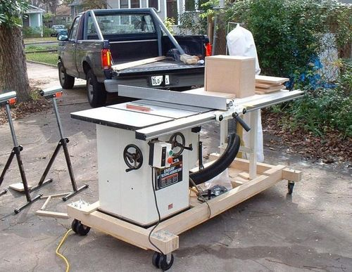 Mobile Base For Hybrid Table Saw By Woodtwerker