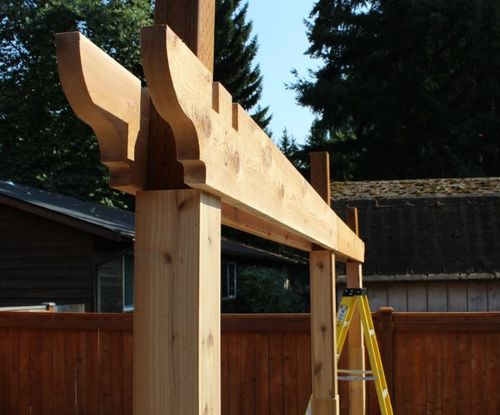 pergola by kevin s woodworking community. Black Bedroom Furniture Sets. Home Design Ideas