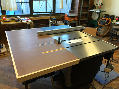 New Shop In The Raw 7 Unisaw Outfeed Table By