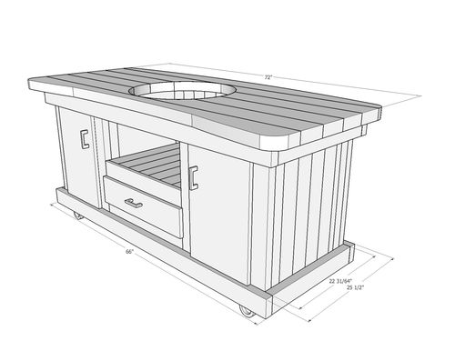 Big Green Egg Table Plans By Gtindengr Woodworking Community